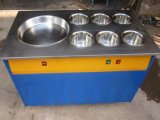 Le carter plat a fait frire la machine de crême glacée/machine roulée de crême glacée