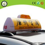 Parte superiore del tassì che fa pubblicità alla casella chiara acrilica di Luminated LED del tetto automobile/della casella chiara
