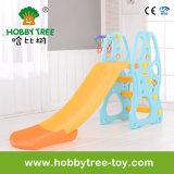 セットされる2017年の中国の屋内運動場の子供のプラスチックスライドおよび振動(HBS17026B)