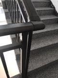Acero galvanizado cubierto polvo de bronce que cerca para las escaleras