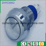 interruptor de pulsador del metal de 12m m con la pista redonda y la función momentánea