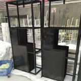 新しいデザイン贅沢なステンレス鋼のホーム家具の鋼鉄表示TVのキャビネットの壁のショーケース