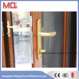 Portas de vidro de alumínio exteriores com a tela do aço da segurança
