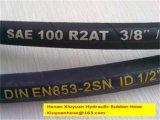 Doppelter Stahldraht-umsponnener hydraulischer Gummiöl-Schlauch-flexibler Schlauch
