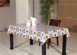 Fábrica por atacado impressa PVC do Tablecloth LFGB Oko-Tex China do revestimento protetor do Nonwoven/flanela/tela