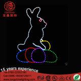 O coelho do diodo emissor de luz Easter ilumina a luz do motivo para a decoração