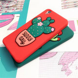 Neuer Design Potted Cactus Silicone Handy Fall Soft Back Cover für iPhone6/Plus (XSF-083)