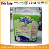 Couche remplaçable de bébé de couche-culotte de bébé d'usine d'étoile de l'élément 4 de Fujian