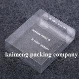 Rectángulo transparente del animal doméstico plástico de la categoría alimenticia para la decoración del regalo (rectángulo transparente)