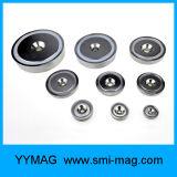 De magnetische Magneten van de Pot met de Verzonken Houder van de Schroeven van Gaten