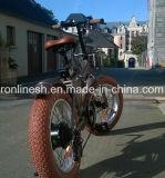 2017 Model elektrisches fetthaltiges Fahrrad des fetten Reifen-20X4/des fetten Gummireifens des Fahrrad-/Pedelec/E Bike/E/elektrisches Schnee-Fahrrad des Fatbike/E Sand-Bike/E mit Weinlese-Sitz, Retro Gummireifen-Cer