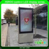 Visualización al aire libre del LCD del quiosco androide de la pantalla táctil