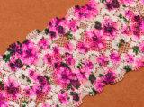 Trimming Lace Tecido de malha para senhoras Garment Print 3D Lace