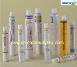 Tube compressible en aluminium vide de soins de la peau crèmes cosmétiques de pâte dentifrice d'emballage des médicaments