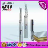 Carburo Recubierto Individual Flauta Uncoated cortador / 1 Flauta de aluminio Procesamiento End Mill / Herramientas de corte