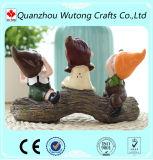 販売のための庭の装飾の樹脂3の人形の置物