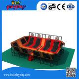Qualitäts-haltbarer Innenbett-Trampoline-Park für Verkauf, springendes Bett