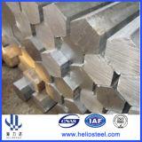 Barra d'acciaio Polished trafilata a freddo nella figura Hexa di figura rotonda