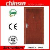 Puerta blindada de madera de acero superventas con buena calidad (SV-A026)