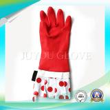 Luvas protetoras do látex do trabalho da limpeza da segurança com o ISO9001 aprovado
