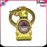 カスタム供給の合金の鋳造の金の正方形によって刻まれる仏教のロゴKeychain