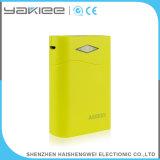 Mini banco portátil universal personalizado da potência de RoHS com lanterna elétrica brilhante