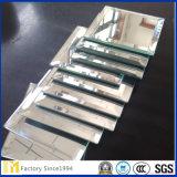 Espejo biselado del vidrio de flotador de la fuente con la talla modificada para requisitos particulares 2m m 3m m 4m m 5m m 6m m 8m m