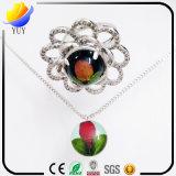 Цветастый камень смолаы с ожерельем диаманта