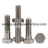 Boulon et noix principaux d'hexagone avec demi d'usine de dispositif de fixation d'acier inoxydable d'amorçage du matériel DIN 931 de la Chine
