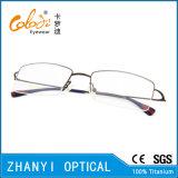 Рамка просто Semi-Rimless Titanium стекел Eyeglass Eyewear оптически (8501)