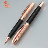 Pluma del regalo del metal de la pluma del rodillo del bolígrafo del papel