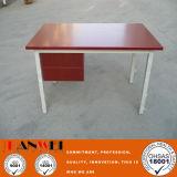 금속 책상 강철 금속 책상 나무로 되는 식사 정연한 테이블
