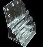 Duidelijke Plastic A4 4 Fabrikant btr-H6304-3 van de Houder van de Brochure van Banden