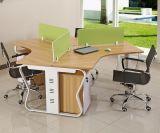 3개의 시트 1개의 옆 사무실 분할 다발 직원 워크 스테이션 (HX-NCD034)