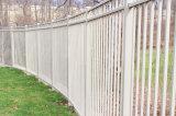 Cheio-Soldar o pó branco a cerca galvanizada lisa revestida do jardim da parte superior (3 trilhos)