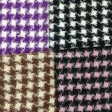 Houndstooth Napping poco tela de las lanas de la verificación