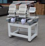 Nuevo máquina automática automatizada del bordado de la pista 15 de la condición 2 color para el bordado de la ropa del casquillo 3D