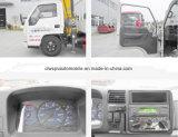 6 roues Jmc 3 tonnes de grue télescopique ont monté sur le prix de camion de camion