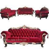 خشبيّ يعيش غرفة جلد أريكة كلاسيكيّة ([أول-نسك003])