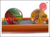 Bola que recorre del agua multicolora inflable, bola Z1-005 de la burbuja del agua