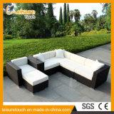新式のハンドメイドの屋外の庭のテラスの家具の居間の藤のコーナーのソファー