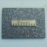 Naar maat gemaakte Rhinetsone Pu etiketteert Etiketten voor Jeans