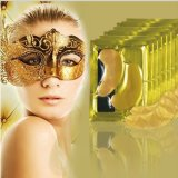 La máscara de ojo cristalina del colágeno del oro de Afy 24k podemos producir máscaras de ojo con su insignia