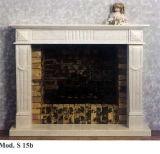De natuurlijke Afdekplaten van de Open haard van de Steen Antieke Witte Marmeren voor Zaal