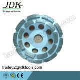Колесо чашки рядка двойника диаманта Jdk для гранита меля/истирательные/полируя инструменты