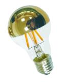 Base superior estándar del bulbo de cristal 3.5W E27/B22 del espejo del LED A60/A19 Goldden que amortigua la lámpara