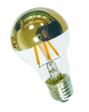 LEDランプを薄暗くする標準A60/A19上のGolddenミラーのガラス球3.5W E27/B22ベース