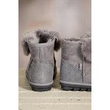 方法女性のための短い様式の羊皮の毛皮の雪のブート