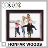 Frame de retrato de madeira de prata moderno da foto para a decoração Desktop