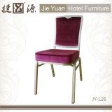겹쳐 쌓인 알루미늄 직물에 의하여 완화되는 대중음식점 체더링 의자 (JY-L26)